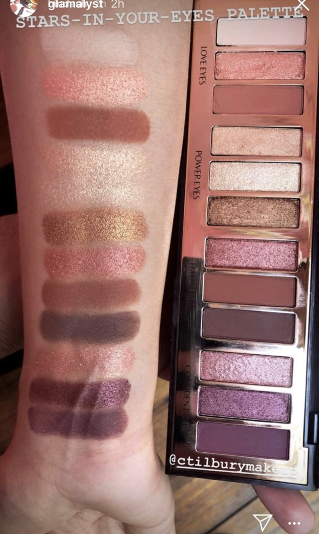 Charlotte Tilbury Stars-in-your-Eyes Palette swatches