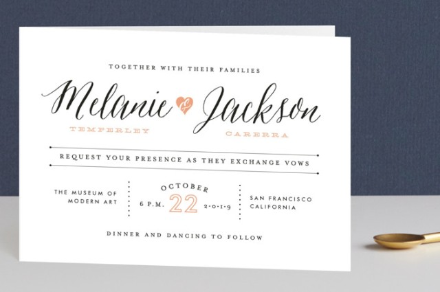Minted four panel invitation review
